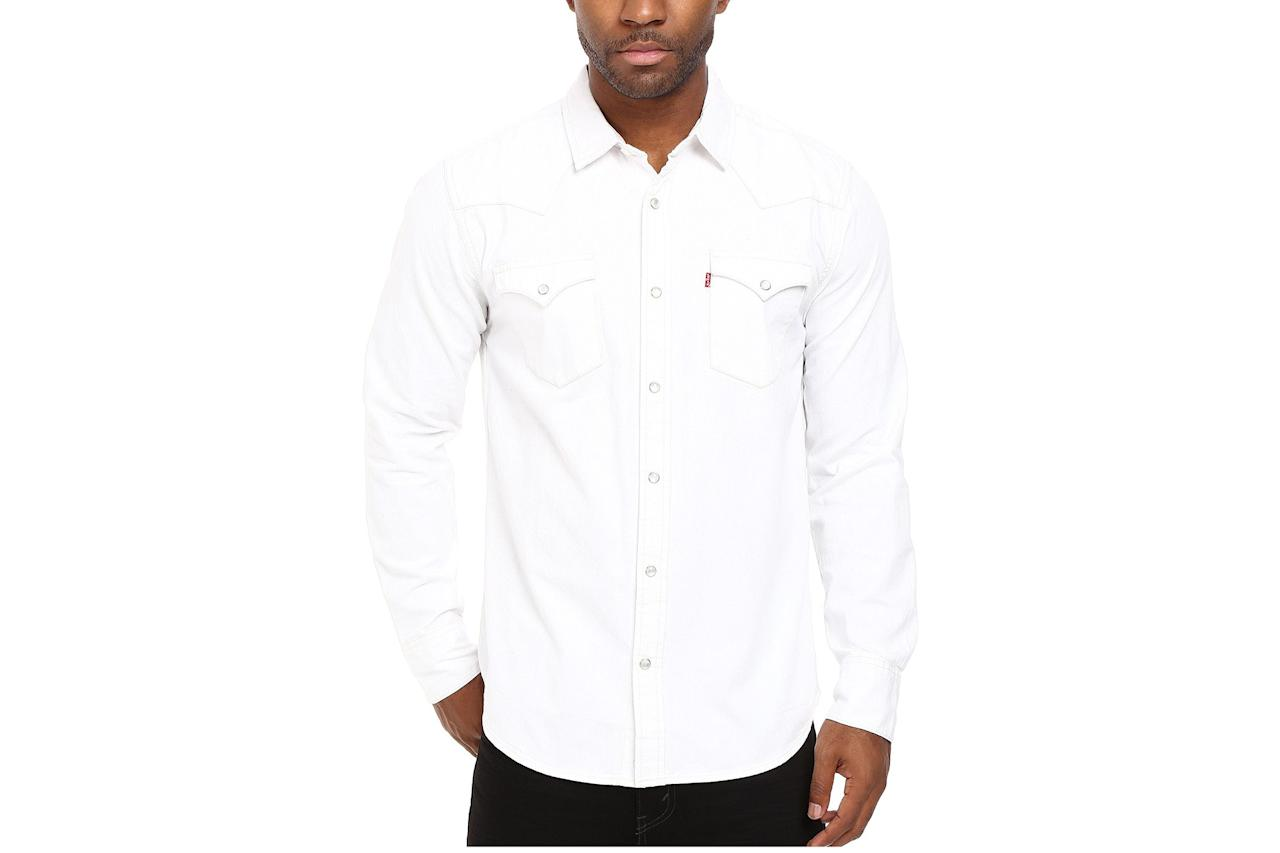 """$60, Zappos. <a href=""""https://www.zappos.com/p/levis-standard-barstow-western-shirt-white/product/8561457/color/14?utm_source=google&utm_medium=pla_g&utm_campaign=1435841695&utm_term=pla-__iv_p_1_g_55217326454_c_275546680730_n_g_d_c_v__l__t__r_1o10_x_pla_y_15872_f_online_o_40599561_z_US_i_en_j_646873333805_s__e__h_9067609_ii__vi__&utm_content=40599561&zap_placement=1o10&_ivgu=9b432ac2-6ccb-4a9f-8c8a-4fd2e3a1f417"""">Get it now!</a>"""