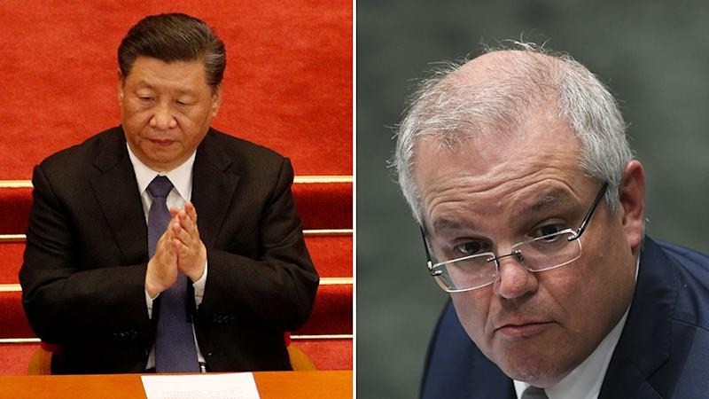 China has taken aim at Australia through an article written by the state-run media outlet, The Global Times. Source: AAP
