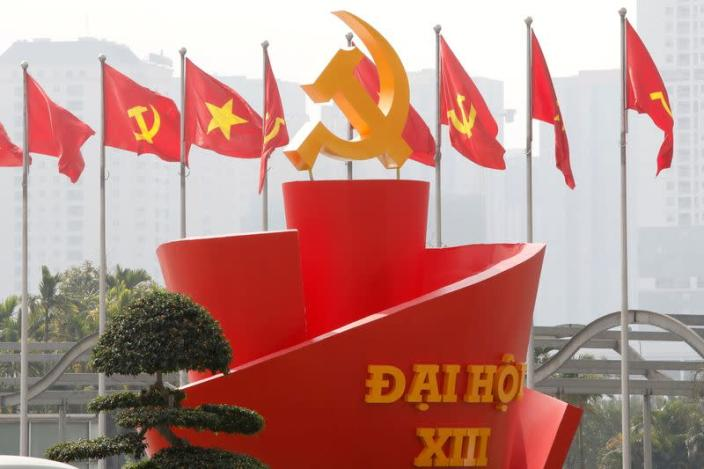 The 13th national congress of the Communist Party of Vietnam, in Hanoi