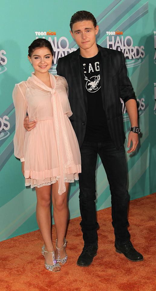HOLLYWOOD, CA - OCTOBER 26: Actress Ariel Winter (L) and actor Callan McAuliffe attend the Nickeloden TeenNick HALO Awards at the Hollywood Palladium on October 26, 2011 in Hollywood, California.  (Photo by Frederick M. Brown/Getty Images)