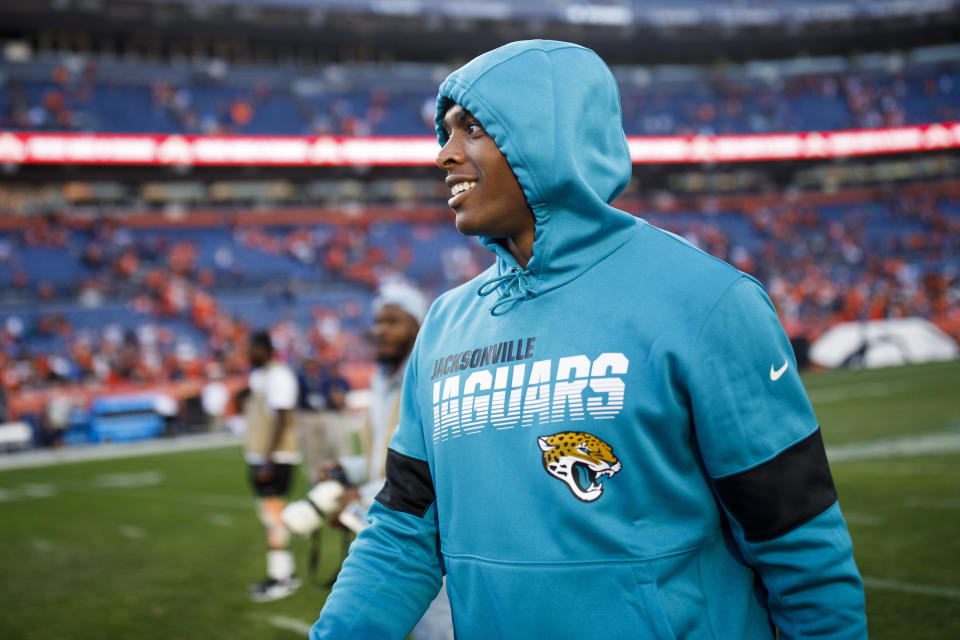 DENVER, CO - SEPTEMBER 29:  Cornerback Jalen Ramsey #20 of the Jacksonville Jaguars walks off the field after the game against the Denver Broncos at Empower Field at Mile High on September 29, 2019 in Denver, Colorado. Ramsey did not play in the game and has previously requested a trade. The Jaguars defeated the Broncos 26-24. (Photo by Justin Edmonds/Getty Images)