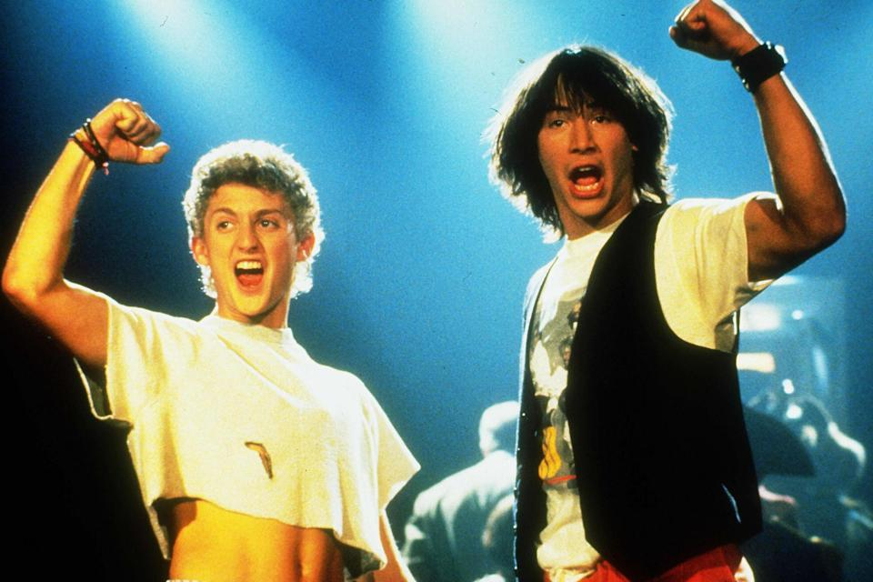 Alex Winter and Keanu Reeves in Bill & Ted's Excellent Adventure (1989): Photo by Orion/Kobal/REX