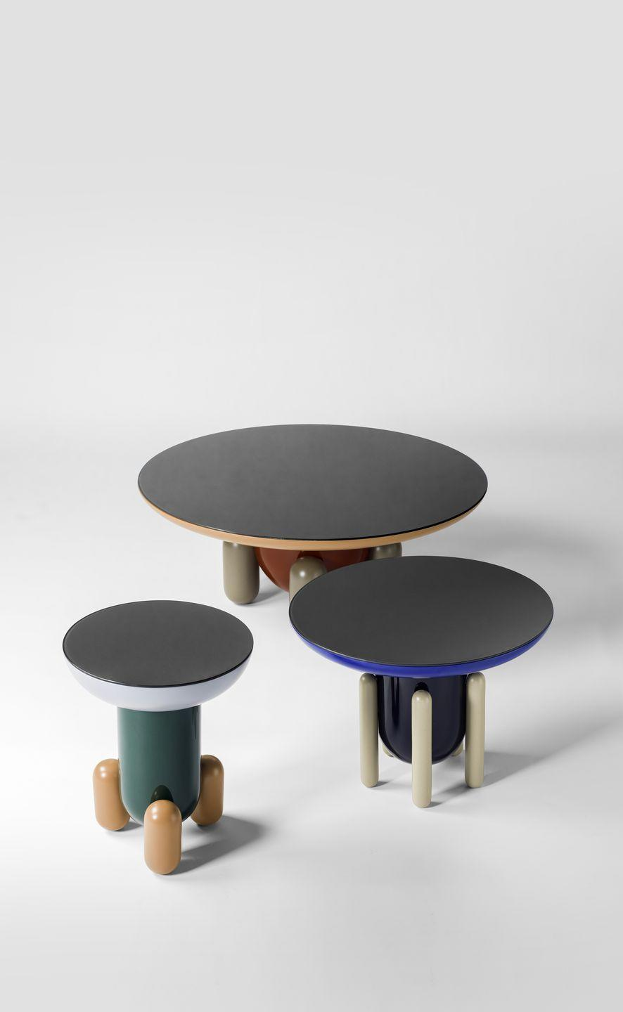 """<p>Jaime Hayon's 'Explorer' side tables for make for a characterful little gang. Typical of the Spanish designer's playful aesthetic, the three variations are inspired by jelly beans and childhood sweets and are available in a tantalising array of colours and finishes. From £1,564, <a href=""""https://www.aram.co.uk"""" rel=""""nofollow noopener"""" target=""""_blank"""" data-ylk=""""slk:aram.co.uk"""" class=""""link rapid-noclick-resp"""">aram.co.uk</a></p>"""
