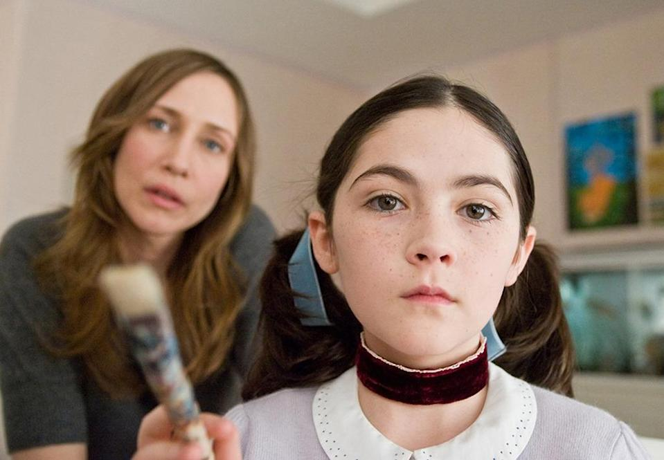 <p>Played by Isabelle Fuhrman ('Masters of Sex'), Esther is an evil Russian girl adopted by an unwitting couple (Vera Farmiga and Peter Sarsgaard) in the 2009 psychological thriller 'Orphan.' If only they heeded the warnings given by the head of the orphanage: Bad things happen when she's around. (Photo: Rex)</p>