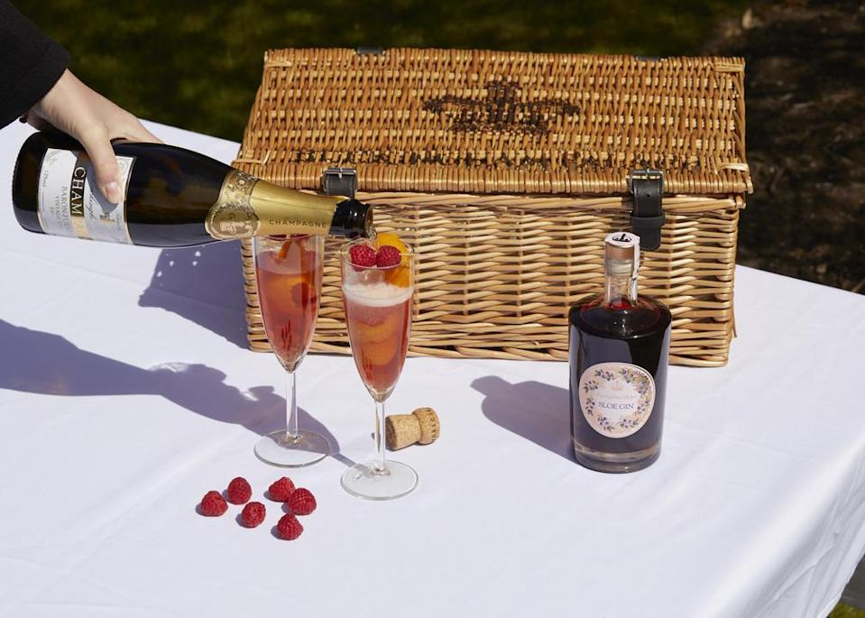 The Sloe Royale cocktail