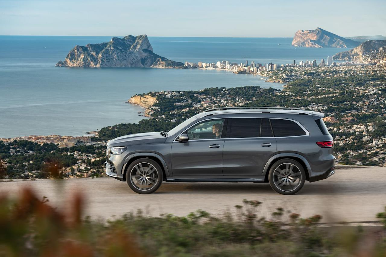 <p>Initial models available are the GLS450, powered by the excellent 362-hp turbo 3.0-liter inline-six with 21 horsepower of electric assist that is spreading across Mercedes-Benz's lineup, and the GLS580, which is powered by a new, 483-hp version of the twin-turbo 4.0-liter V-8, this one now also boosted with the same 21-hp / 184-lb-ft electric-assist system and 48-volt electrical architecture.</p>