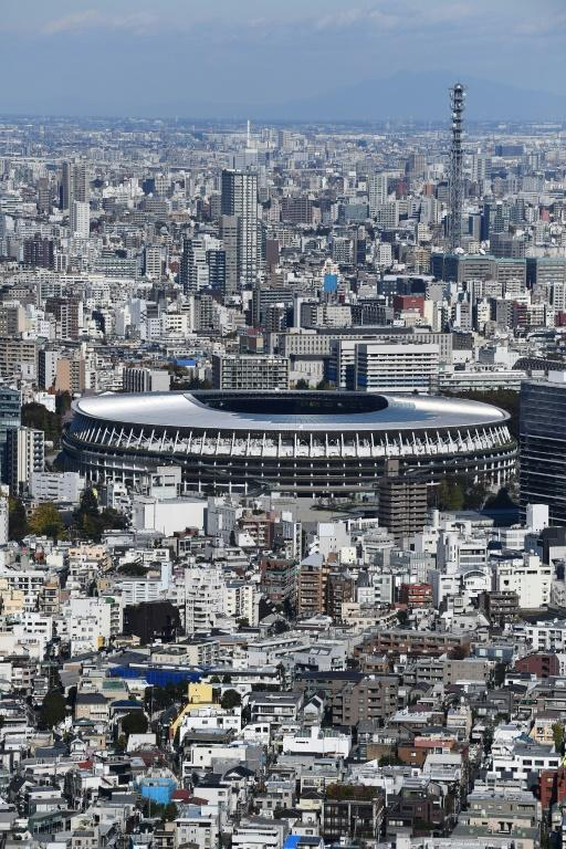 Construction of the $1.4 billion main Tokyo Olympic venue has officially completed (AFP Photo/CHARLY TRIBALLEAU)