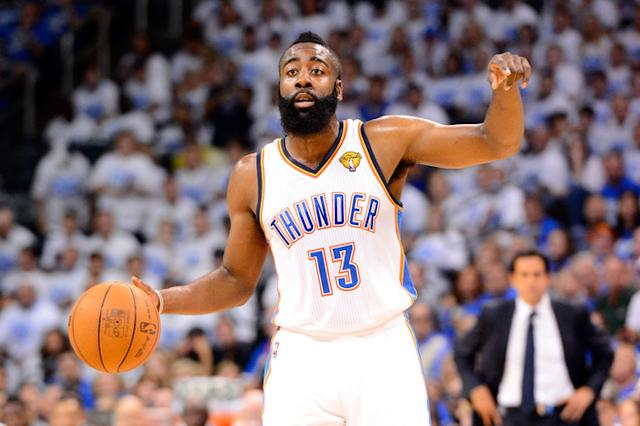 The Thunder couldn't reach a deal with James Harden. (Getty Images)