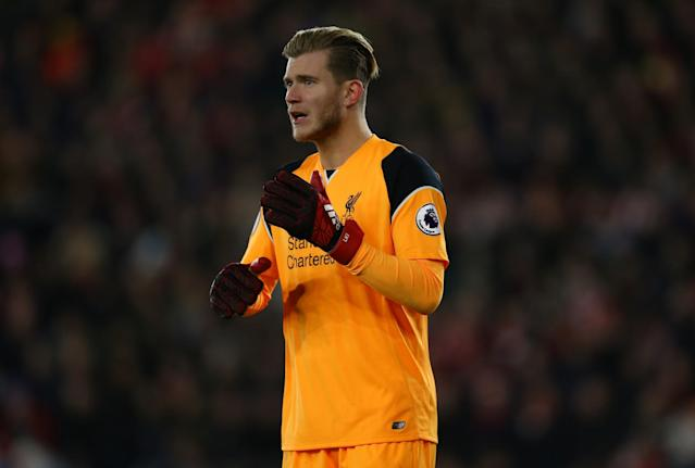 <p>Liverpool keeper Karius was forced into a number of decent saves through the first half (Getty Images) </p>