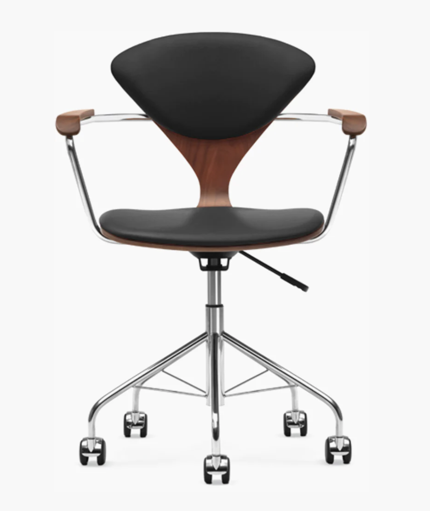"""<p><strong>DWR</strong></p><p>dwr.com</p><p><strong>$1859.00</strong></p><p><a href=""""https://www.dwr.com/office-chairs/cherner-task-chair/5646.html?lang=en_US"""" rel=""""nofollow noopener"""" target=""""_blank"""" data-ylk=""""slk:Shop It"""" class=""""link rapid-noclick-resp"""">Shop It</a></p><p>The Cherner Task Chair is truly a piece of American history, produced in the US and designed by Norman Cherner. The piece became particularly popular in 1961 when featured in a Norman Rockwell painting on the cover of <em>The Saturday Evening Post</em>.<br></p>"""