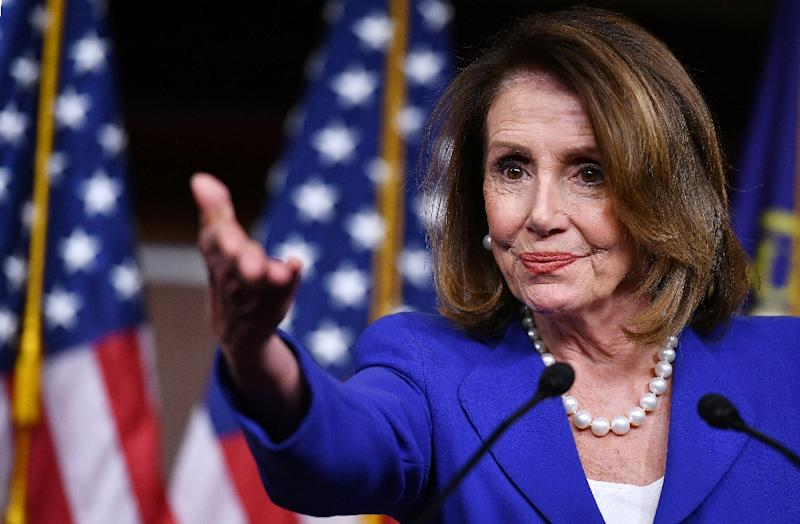 US House Speaker Nancy Pelosi, who is on a visit to Britain, says her Democratic Party needs a centrist vision to beat Donald Trump in the 2020 election