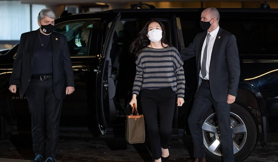 Meng Wanzhou arrives at the BC Supreme Court for a hearing on Wednesday. Photo: Bloomberg