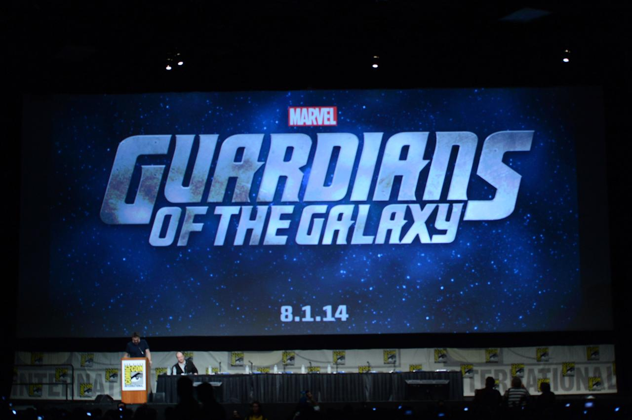 "SAN DIEGO, CA - JULY 14:  A general view of atmosphere during Marvel Studios ""Iron Man 3"" panel during Comic-Con International 2012 at San Diego Convention Center on July 14, 2012 in San Diego, California.  (Photo by Kevin Winter/Getty Images)"
