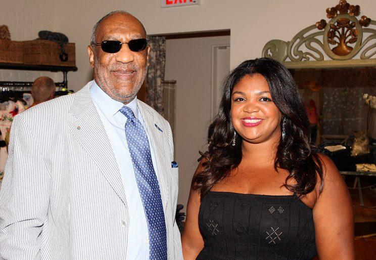Evin Cosby and her father, Bill, in NYC in 2008. (Photo: Bryan Bedder/Getty Images)