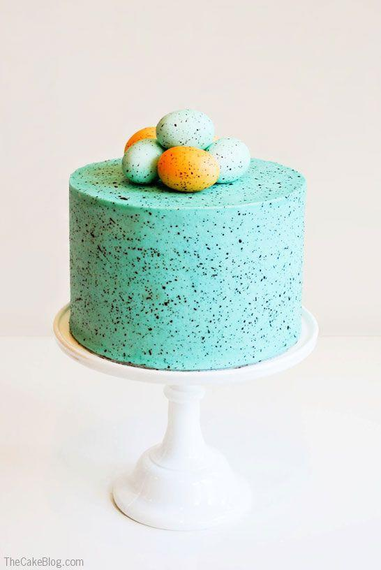 "<p>Channel your inner Picasso and splatter speckles all over your cake. </p><p><a href=""http://thecakeblog.com/2013/02/speckled-egg-cake.html"" rel=""nofollow noopener"" target=""_blank"" data-ylk=""slk:Get the recipe from The Cake Blog »"" class=""link rapid-noclick-resp""><em>Get the recipe from The Cake Blog »</em></a></p>"