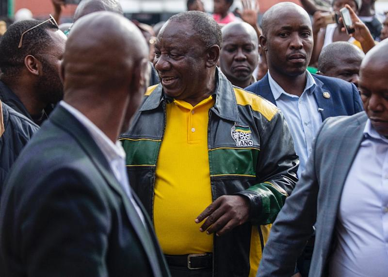 On the campaign trail, Ramaphosa -- a trade union leader-turned multi-millionaire -- has come off as out of touch with the daily struggle of the masses (AFP Photo/WIKUS DE WET)