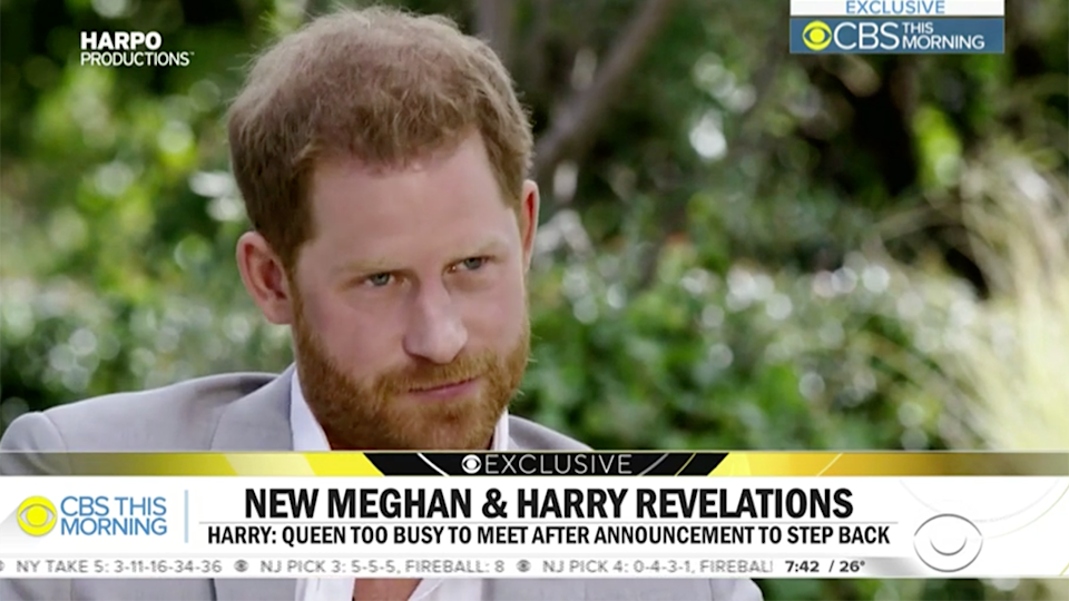 Prince Hrary CBS This Morning interview clip