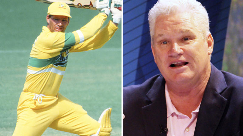 Dean Jones, pictured here in action on and off the cricket field.