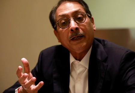 FILE PHOTO: Aloke Lohia, CEO of Indorama Ventures, talks during a Reuters interview at hotel at Bangkok