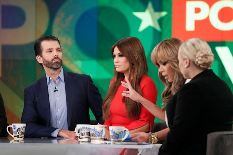 From left: Donald Trump Jr. and Kimberly Guilfoyle on The View | Lou Rocco/ABC via Getty