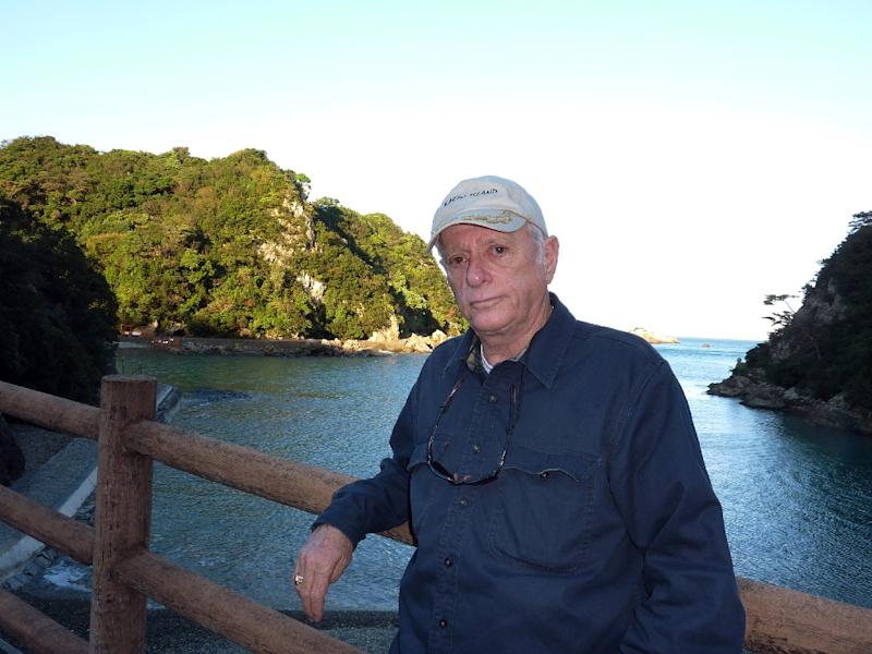 Animal rights activist Ric O''Barry stands by the cove in Taiji town, the location of a controversial annual dolphin hunt, in Wakayama prefecture, western Japan on November 1, 2010 (AFP Photo/Shingo Ito)
