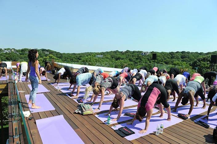 <p>Guests did yoga there.<br></p>