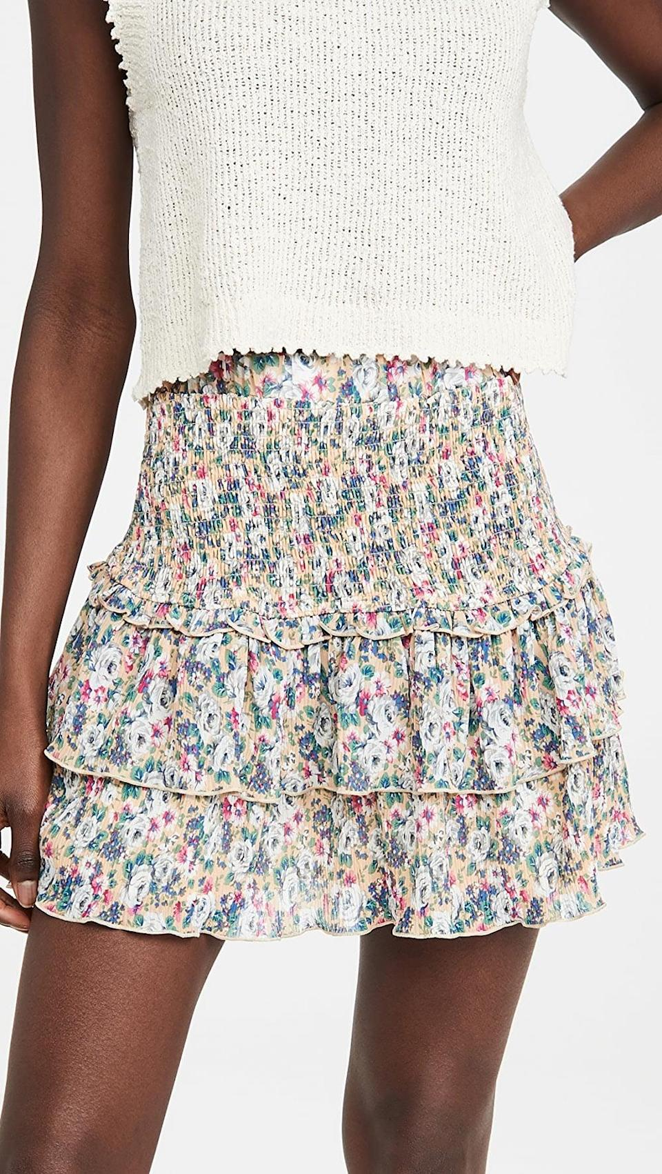 <p>We're crushing hard on this <span>English Factory Floral Pleated Skirt</span> ($70).</p>