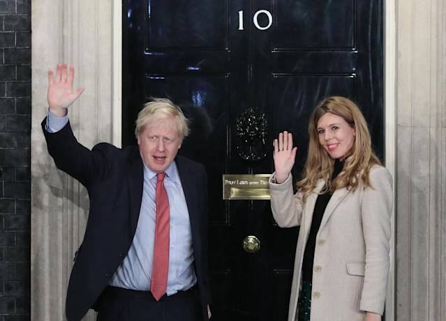 Boris Johnson and Carrie Symonds announced they are expecting a baby in the early summer and that they have got engaged. (PA)