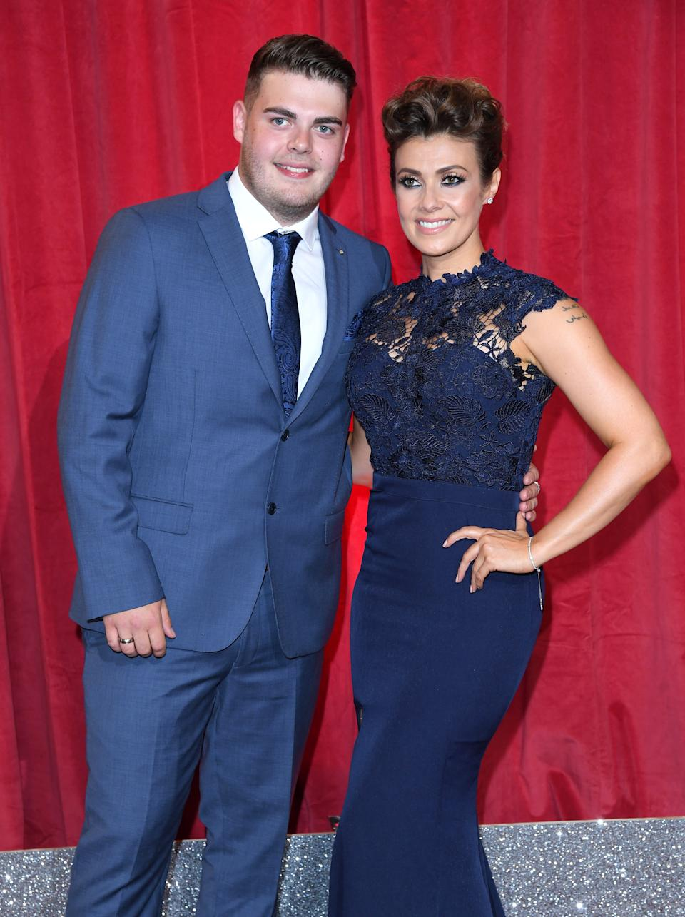 MANCHESTER, ENGLAND - JUNE 03:  Kym Marsh and son David Cunliffe attend the British Soap Awards at The Lowry Theatre on June 3, 2017 in Manchester, England.  (Photo by Karwai Tang/WireImage)