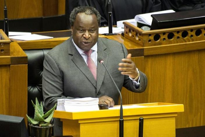 Finance Minister Tito Mboweni has said that trying to cut state-sector waste is like getting teeth extracted without an anaesthetic (AFP Photo/RODGER BOSCH)