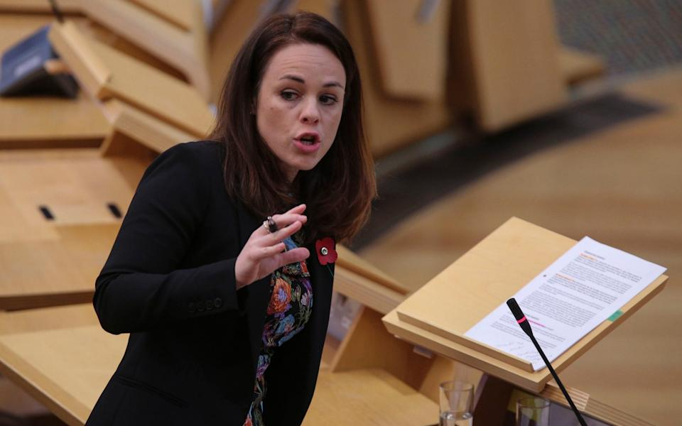 The motion will be debated after a keynote address by Kate Forbes, the SNP finance secretary - Fraser Bremner/PA