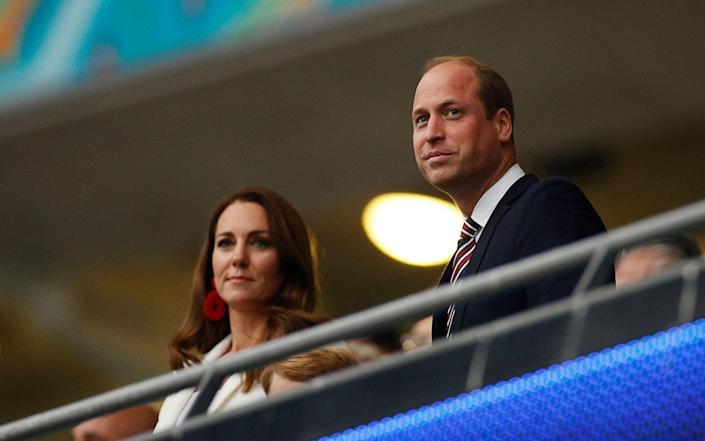 The Duke and Duchess of Cambridge watch the Euro 2020 final at Wembley - JOHN SIBLEY/POOL/AFP via Getty Images