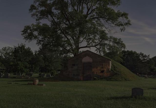 <p>Waiting for the all clear to head to the Captain John Lowry Station, Lodi Plains Cemetery, Nutting's Corner, Michigan. (Photograph by Jeanine Michna-Bales) </p>