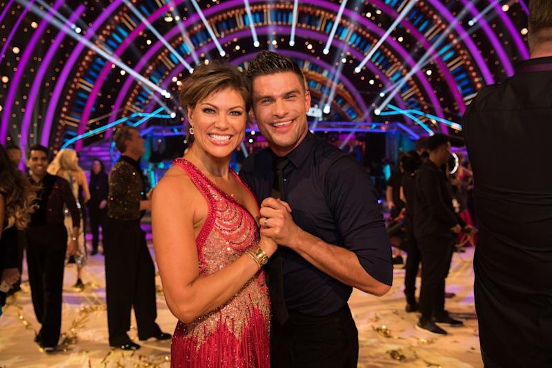 <p>The news presenter has been partnered with Aljaz Skorjanec on the BBC1 show.</p>