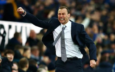 <span>Duncan Ferguson fed off the energy of the Goodison Park crowd </span> <span>Credit: Getty Images </span>