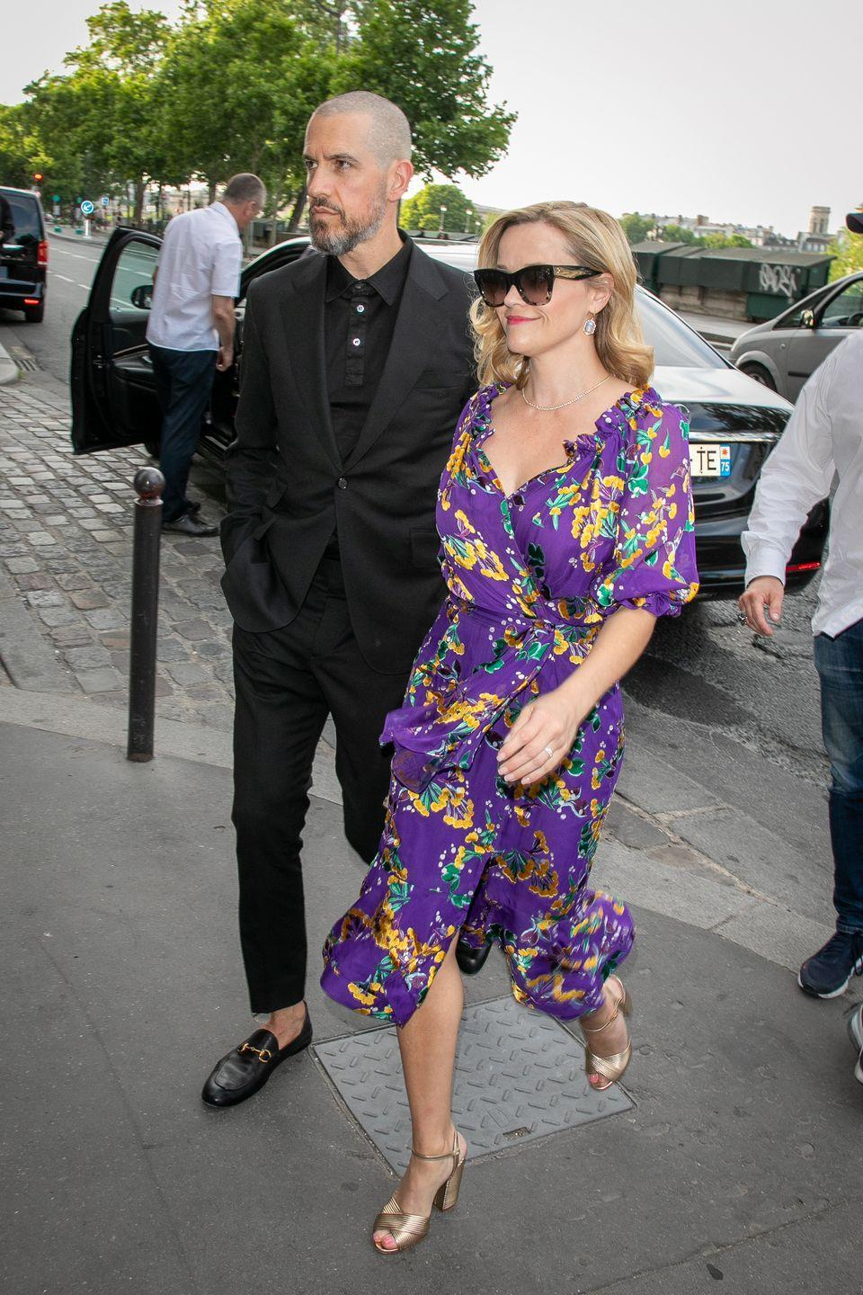 <p>Of course Reese Witherspoon attended this Big Little Lies reunion... we mean wedding! Reese wore a floral wrap dress to Zoë Kravitz's wedding reception.</p>