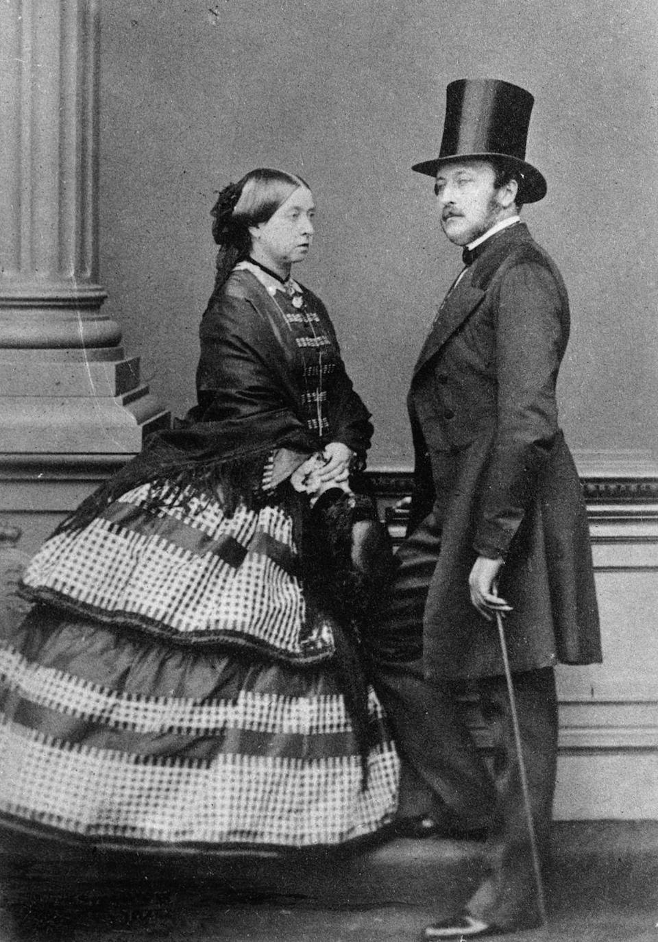 """<p>Queen Victoria, who reigned from 1837-1901, was Queen Elizabeth II's great-great-grandmother. She was the first British sovereign to <a href=""""https://www.nytimes.com/2014/04/19/arts/design/love-those-royal-family-photos-it-all-started-with-victoria.html#"""" rel=""""nofollow noopener"""" target=""""_blank"""" data-ylk=""""slk:embrace photography"""" class=""""link rapid-noclick-resp"""">embrace photography</a> as a means of making the royal brand accessible to the public, since the medium was introduced shortly after she ascended the throne. She and her husband, Prince Albert (pictured), became champions of the new art form.</p>"""