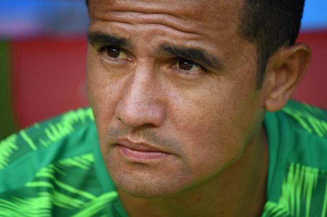 Australia's all-time top-scorer Tim Cahill has done little more than warm the bench during the World Cup so far. (AFP Photo/Kirill KUDRYAVTSEV)