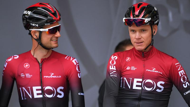 Chris Froome (right) was riding with teammate Wout Poels when he crashed. Pic: Getty