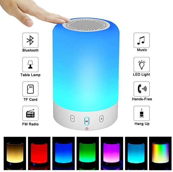<p>Jam out with the <span>Night Light Bluetooth Speaker</span> ($23).</p>