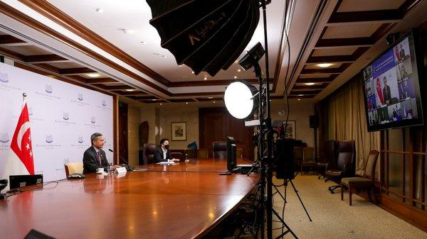 """Minister for Foreign Affairs Dr Vivian Balakrishnan at the """"High-Level Videoconference on Belt and Road International Cooperation: Combating COVID-19 with Solidarity"""""""