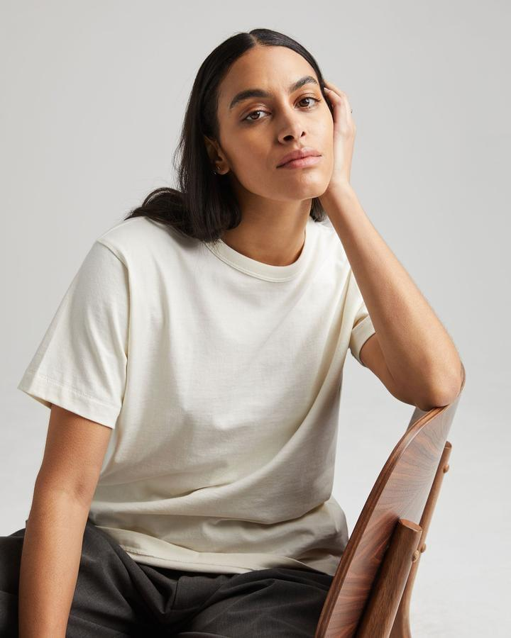 <p>I tried out this <span>Richer Poorer Weighted Tee</span> ($42), and I'm totally obsessed, The thicker fabric makes it feel so well-made.</p>