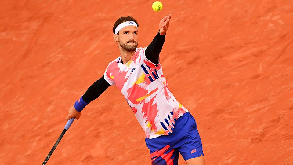 Grigor Dimitrov, pictured here in action at the French Open.
