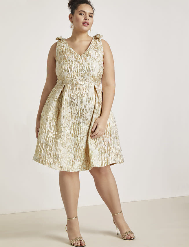 Eloquii Bow Shoulder Fit and Flare Dress (Photo: Eloquii)