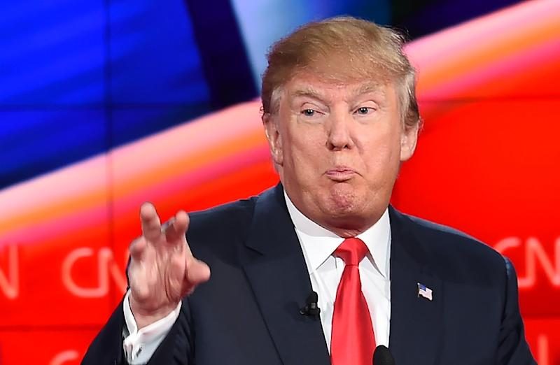 Republican presidential candidate Donald Trump pictured during a debate on CNN in December (AFP Photo/Robyn Beck)