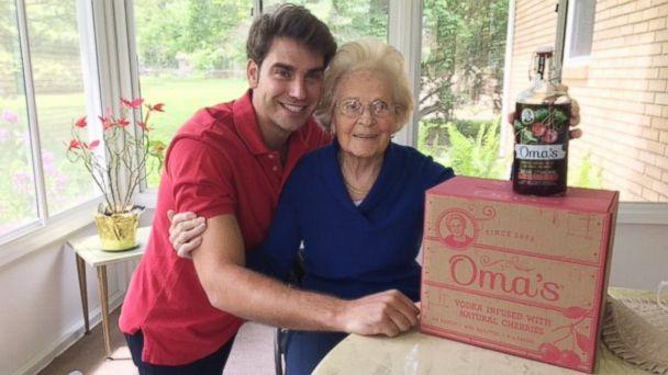 PHOTO: The cherry-infused vodka Hedy Steinbart, 92, made for her family for decades is now on the market thanks to her grandson 28-year-old Kyle Miller. (Courtesy Kyle Miller )