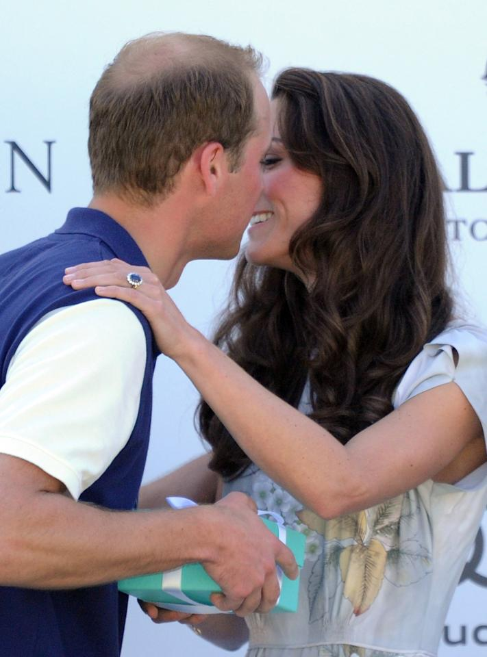 "<div class=""caption-credit""> Photo by: Steve Granitz/WireImage</div><div class=""caption-title"">They shared one more slightly awkward public kiss.</div><b>They shared one more slightly awkward public kiss. <br></b> <br> On the final leg of their 12-day tour, at a charity event in Santa Barbara, Will went in for the kill and got a cheek. It's just a royal thing. <br>"