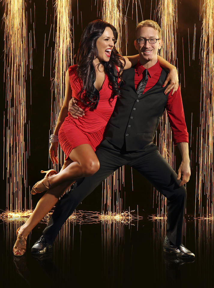 "American comedian, actor, writer, director, musician and producer, Andy Dick joins first time professional partner Sharna Burgess on ""Dancing With the Stars"" Season 16, premiering March 18 on ABC."
