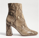 """<p><strong>Sam Edelman </strong></p><p>samedelman.com</p><p><strong>$150.00</strong></p><p><a href=""""https://go.redirectingat.com?id=74968X1596630&url=https%3A%2F%2Fwww.samedelman.com%2Fproduct%2Fwomens-codie-ankle-bootie-3020499%2Fwheat-multi-snake-ec0232583&sref=https%3A%2F%2Fwww.harpersbazaar.com%2Ffashion%2Fg34485018%2Fbest-wide-width-boots%2F"""" rel=""""nofollow noopener"""" target=""""_blank"""" data-ylk=""""slk:Shop Now"""" class=""""link rapid-noclick-resp"""">Shop Now</a></p><p>This boot is a best seller that's available in wide-width sizing, and we approve anything snakeskin. </p>"""