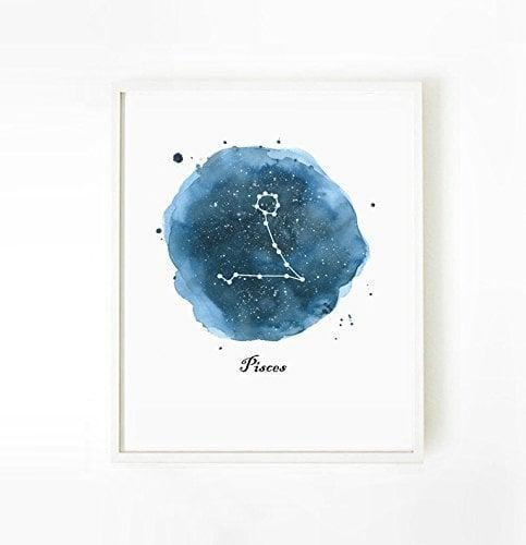<p>This <span>Pisces Zodiac Art Print</span> ($10) would look great in a bedroom.</p>